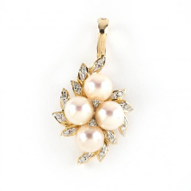14kt-pearl-and-diamond-pendant-enhancer-signed