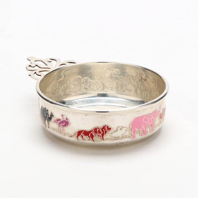 enameled-sterling-silver-porringer-by-gorham