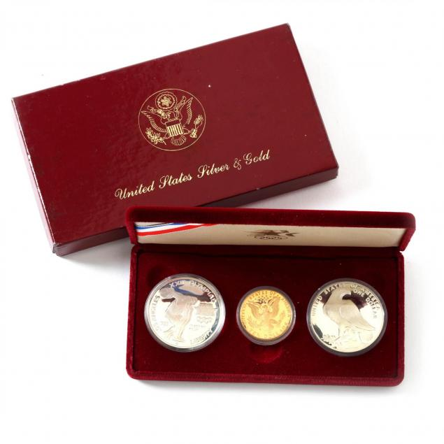 1984-olympic-proof-silver-and-gold-coin-set