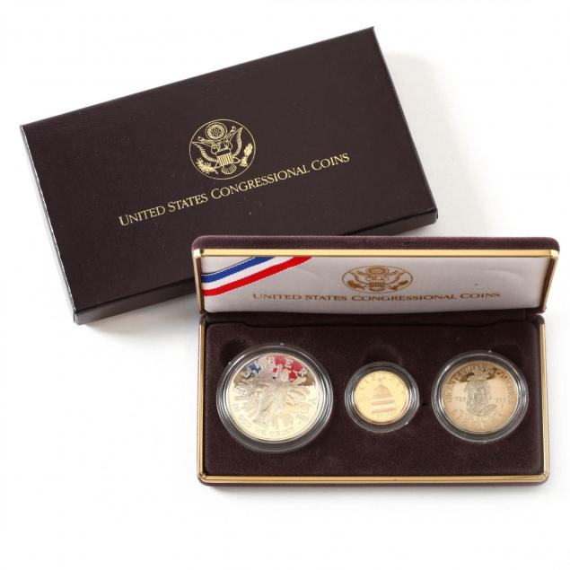 1989-congressional-proof-gold-and-silver-coin-set