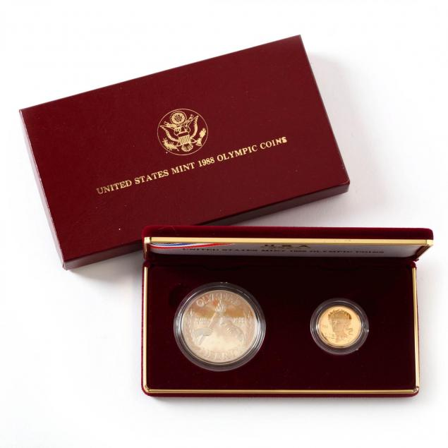 1988-olympic-proof-gold-and-silver-coin-set