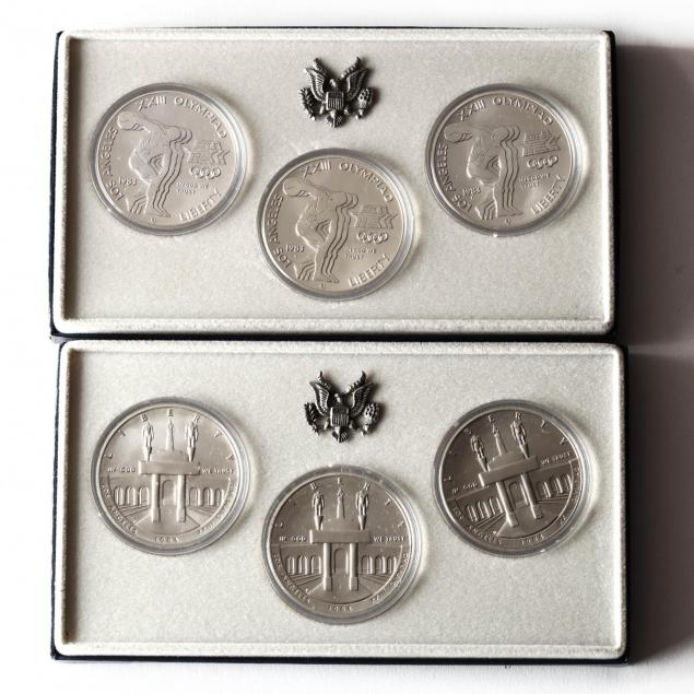 1983-and-1984-p-d-s-olympic-silver-dollar-uncirculated-sets