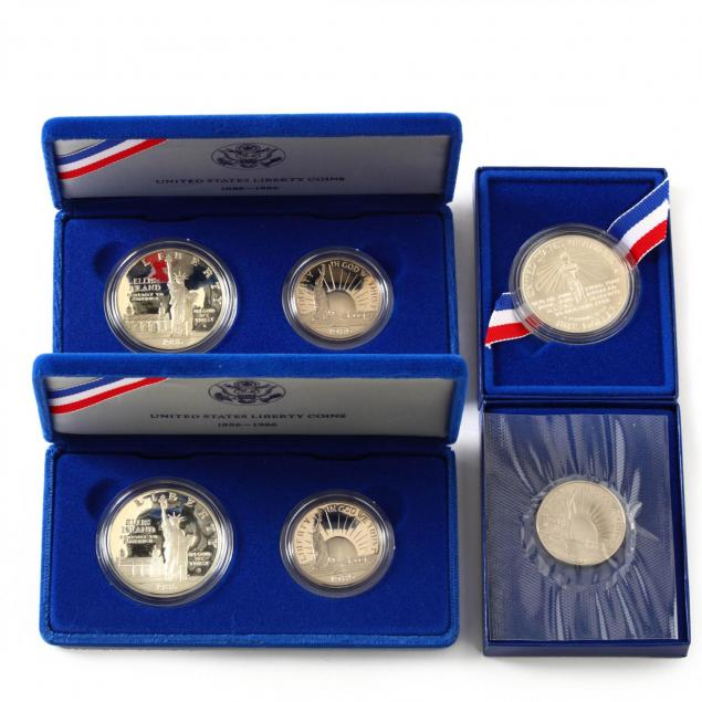 three-1986-liberty-two-coin-sets
