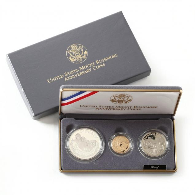 1991-mount-rushmore-gold-and-silver-3-coin-proof-set