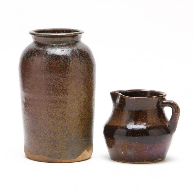 two-early-pieces-penland-pottery-candler-nc