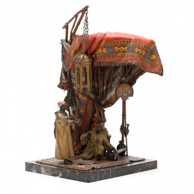 an-orientalist-cold-painted-bronze-lamp-by-anton-chotka-austrian-1875-1925