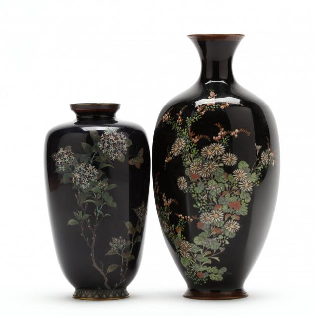 two-japanese-meiji-period-cloisonne-vases