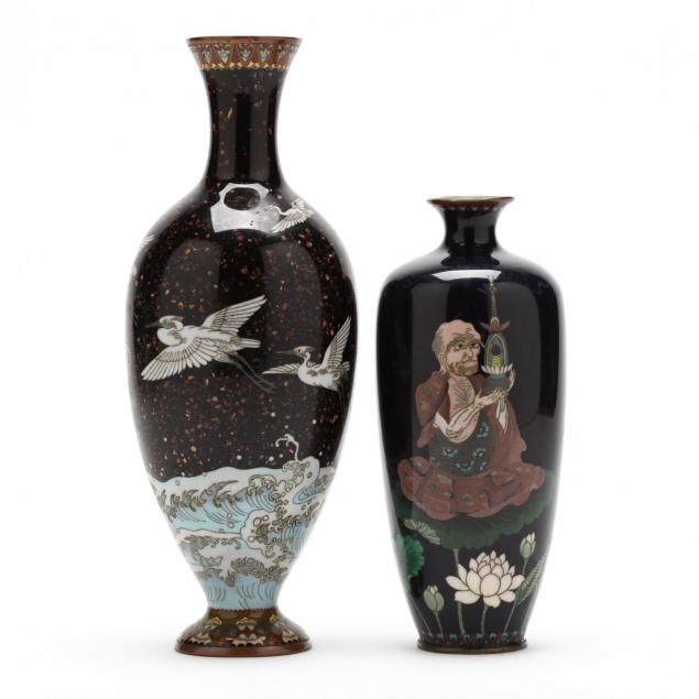 two-japanese-cloisonne-vases