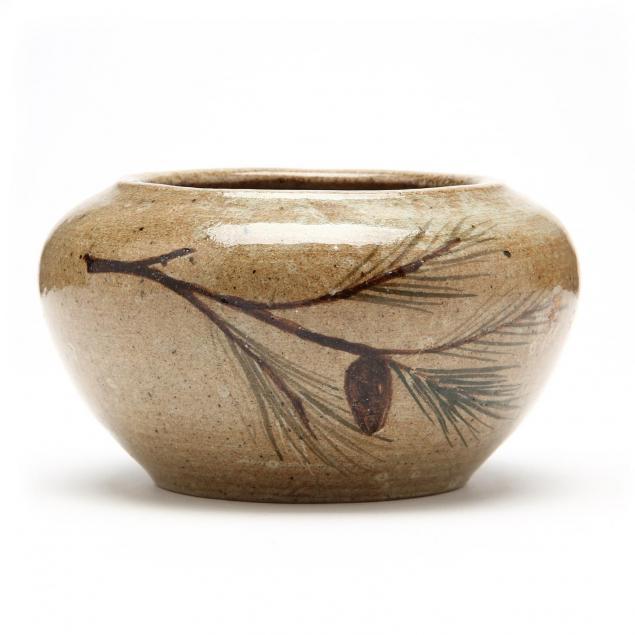 nc-art-pottery-hilton-decorated-bowl