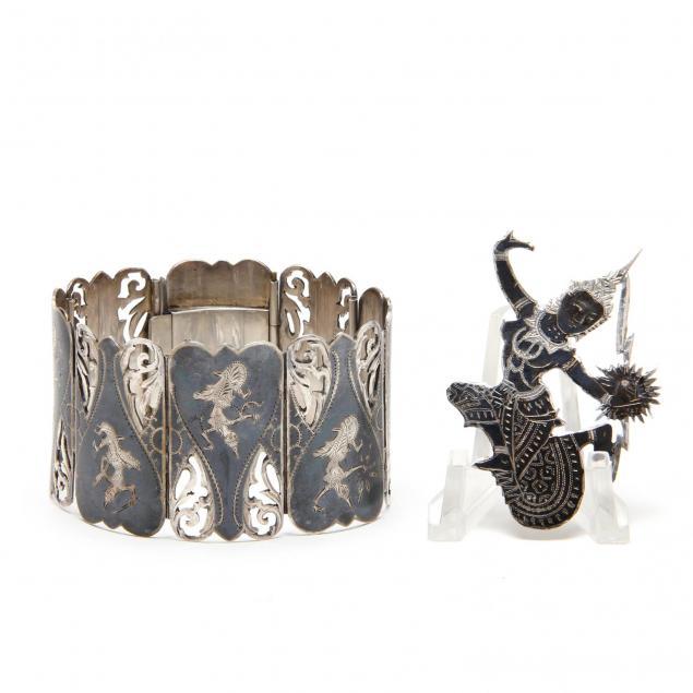 siamese-sterling-silver-bracelet-brooch