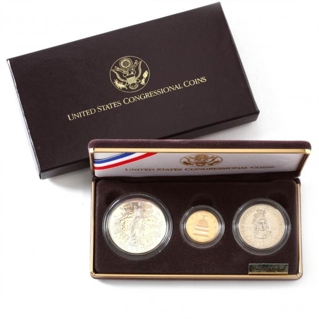 1989-congressional-uncircularted-gold-and-silver-coin-set