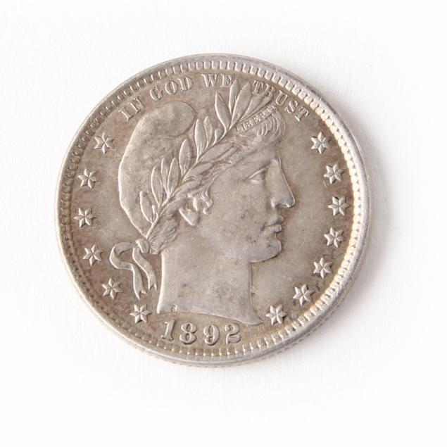 1892-barber-quarter-uncirculated