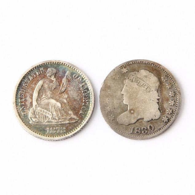 1830-and-1872-half-dimes