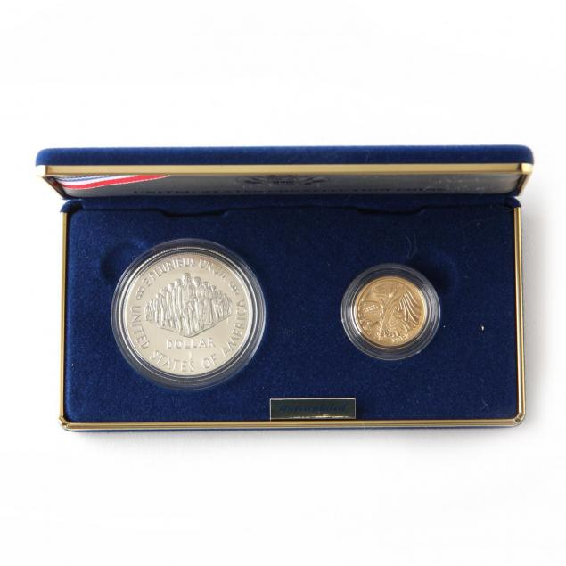 1987-u-s-constitution-silver-and-gold-uncirculated-coin-set