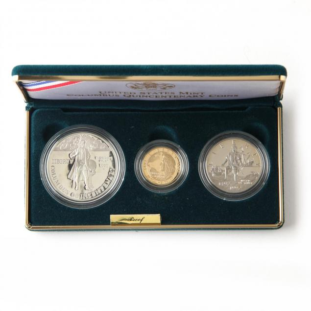 1992-columbus-quincentenary-gold-and-silver-proof-set