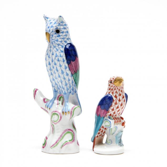 two-herend-porcelain-birds