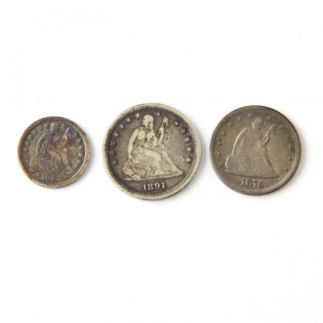 liberty-seated-dime-20-cent-piece-and-quarter