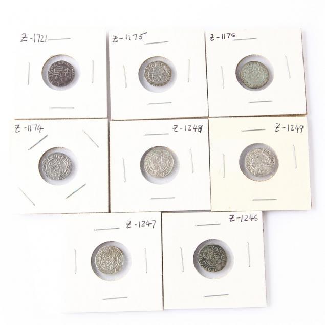 hungary-eight-late-medieval-silver-denars