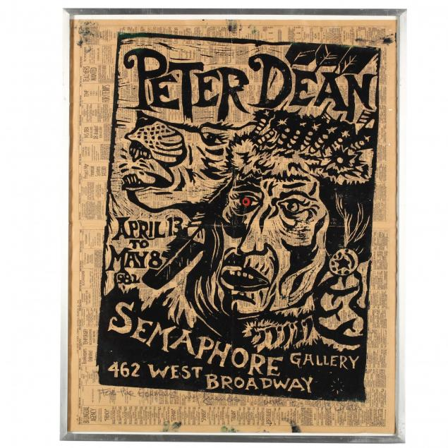 peter-dean-am-1939-1993-signed-exhibition-poster-for-semaphore-gallery