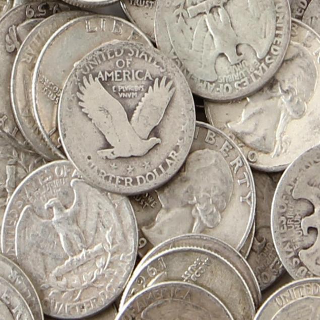 400-circulated-pre-1965-90-silver-quarters