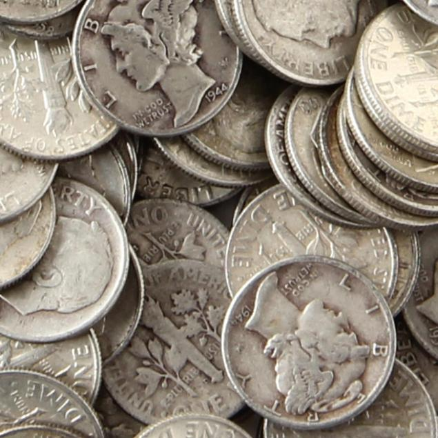 1-000-circulated-pre-1965-90-silver-dimes