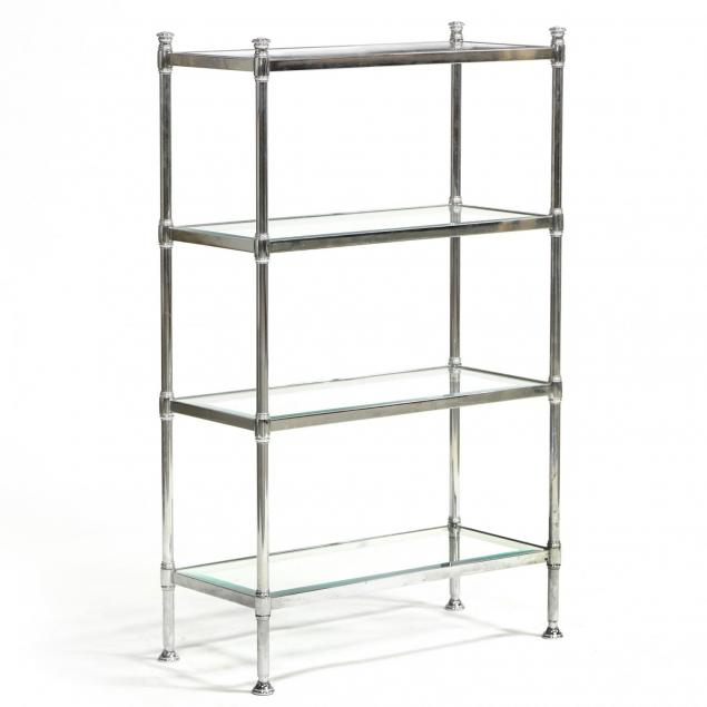 contemporary-chrome-and-glass-shelf