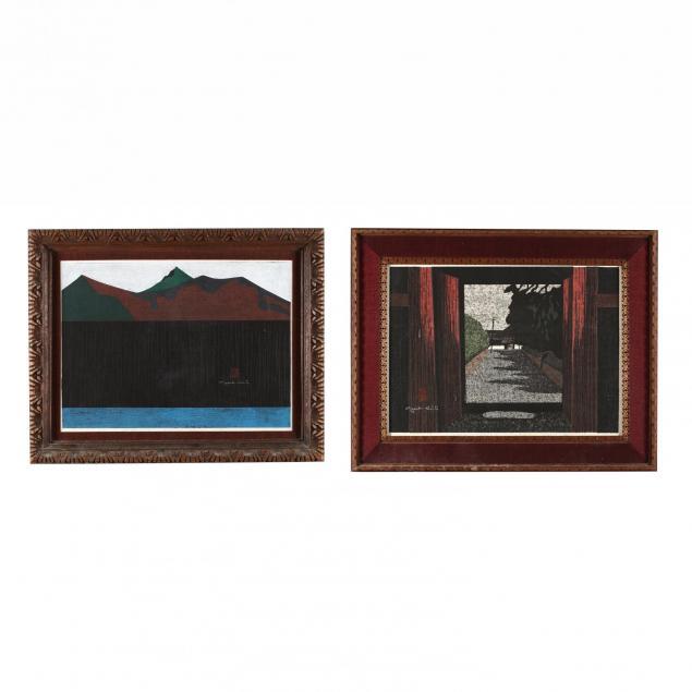 two-woodcut-prints-by-kiyoshi-saito-japanese-1907-1997
