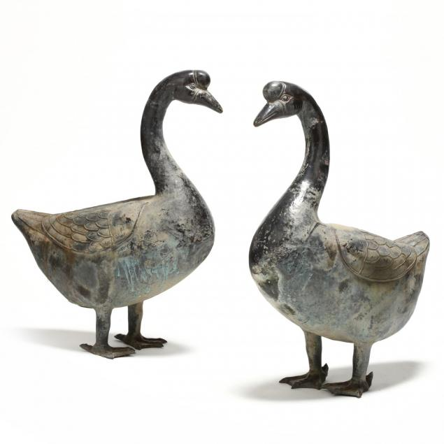 pair-of-large-chinese-cast-bronze-geese