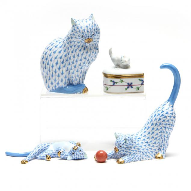 herend-cat-figurine-grouping