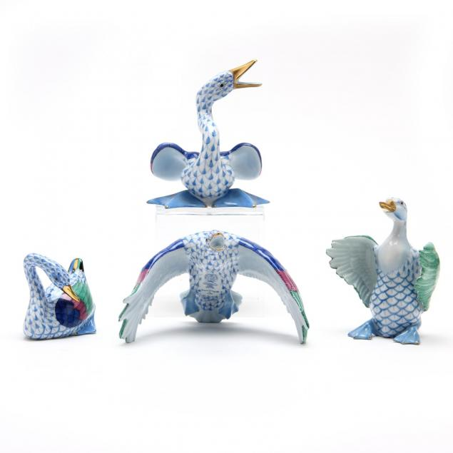 a-group-of-herend-duck-figurines
