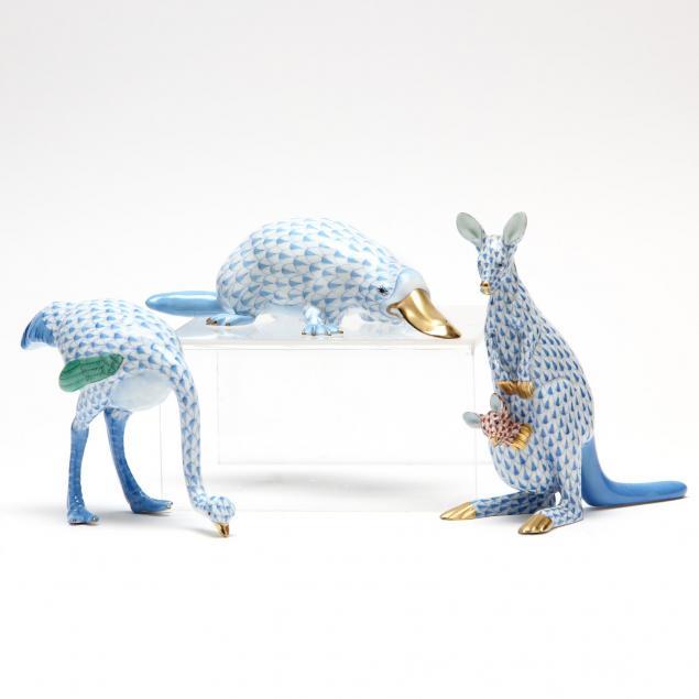 three-herend-animals-of-australia