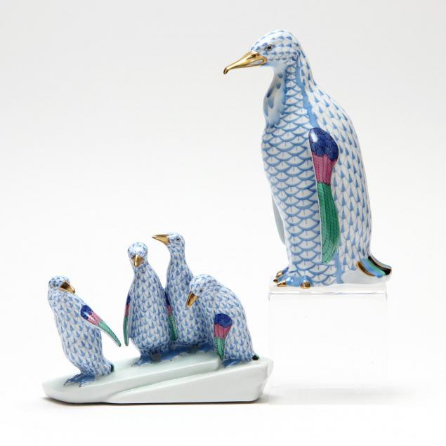 herend-blue-fishnet-penguins