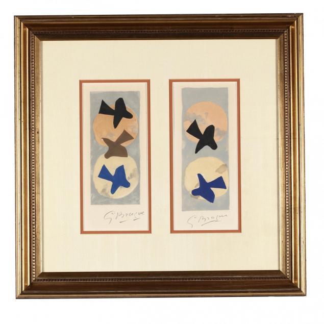 georges-braque-fr-1882-1963-pair-of-framed-lithographs-i-soleil-et-lune-i-i-and-i-soleil-et-lune-ii-i