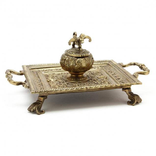 neoclassical-style-brass-ink-stand