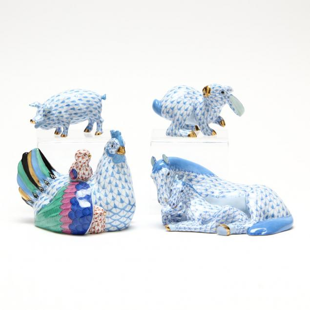 herend-barnyard-series-animal-figurines