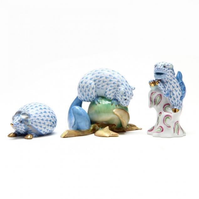 three-uncommon-herend-figurines