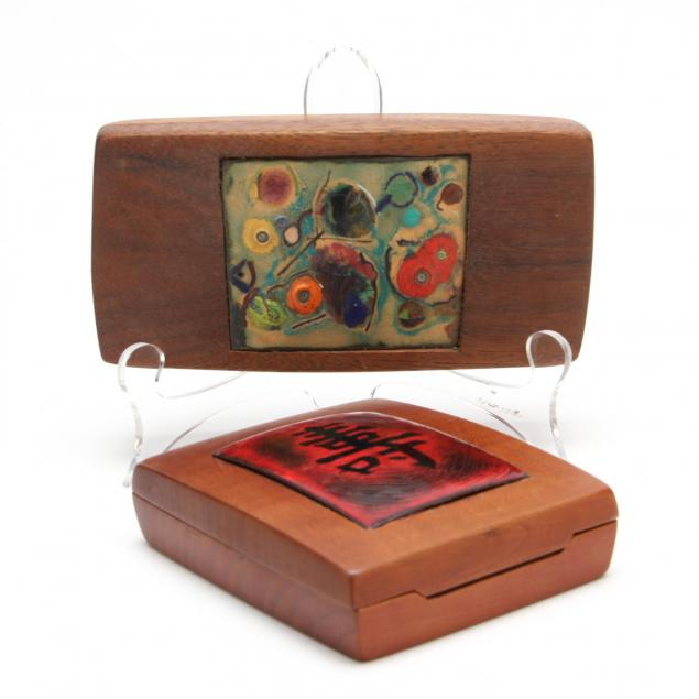 ben-rouzie-two-enameled-lid-boxes