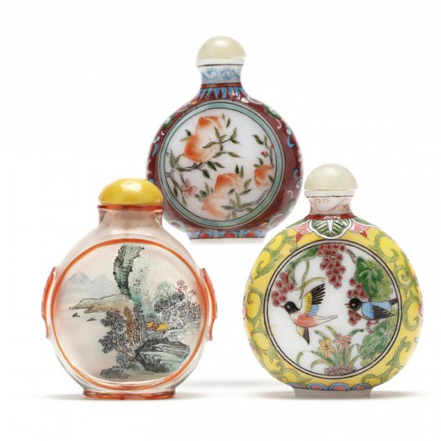 three-chinese-painted-snuff-bottles