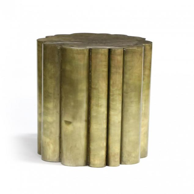 modernist-gilt-metal-lobed-side-table