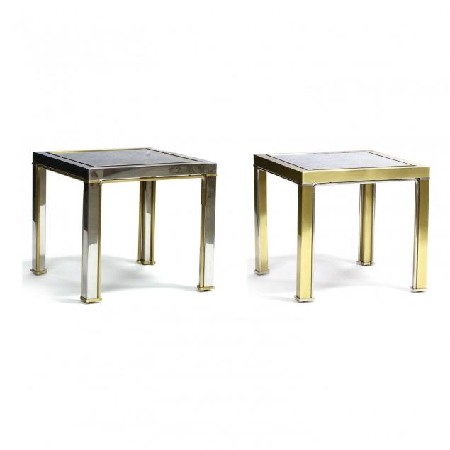 pair-of-modernist-steel-and-brass-tables