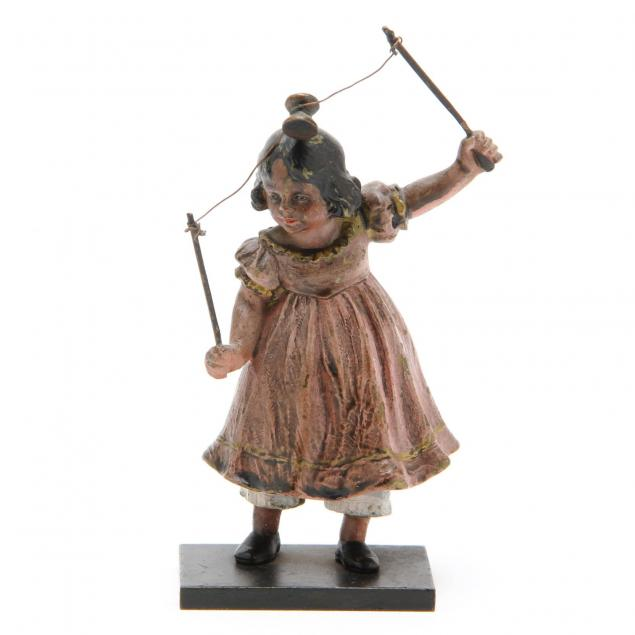 antique-cold-painted-bronze-of-girl-with-diabolo