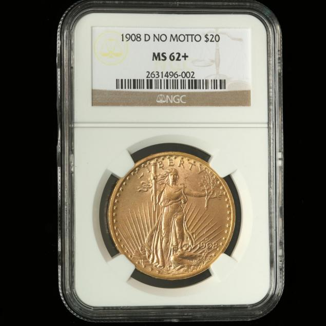 1908-d-no-motto-20-gold-st-gaudens-double-eagle