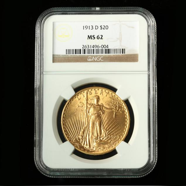 1913-d-20-gold-st-gaudens-double-eagle