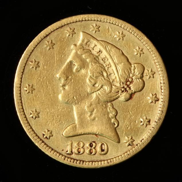 1880-5-gold-liberty-head-half-eagle