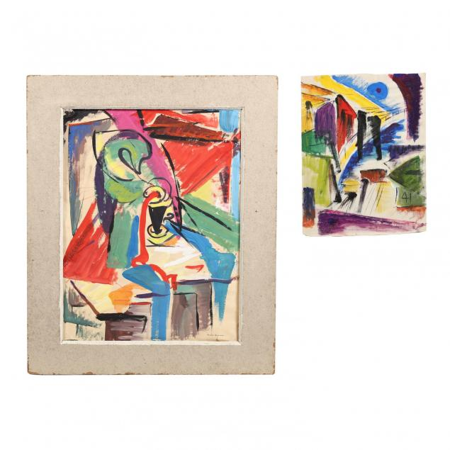 beulah-stevenson-ny-1890-1965-two-colorful-mixed-media-sketches