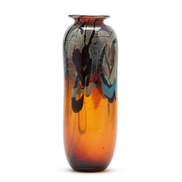 michael-pavlik-am-czech-b-1941-art-glass-vase