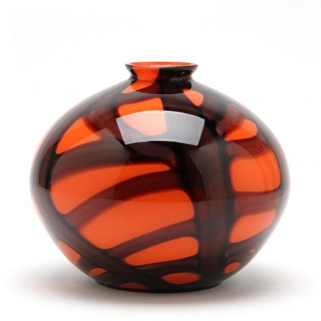 czech-art-deco-glass-vase
