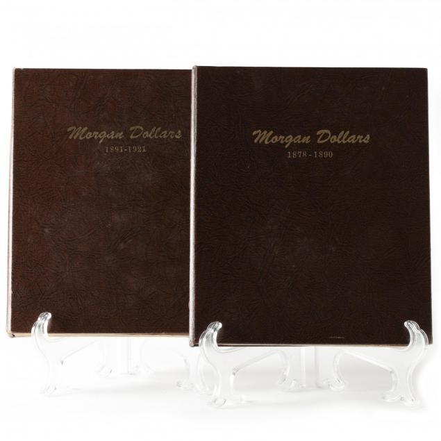 morgan-silver-dollar-collection-in-two-dansco-albums
