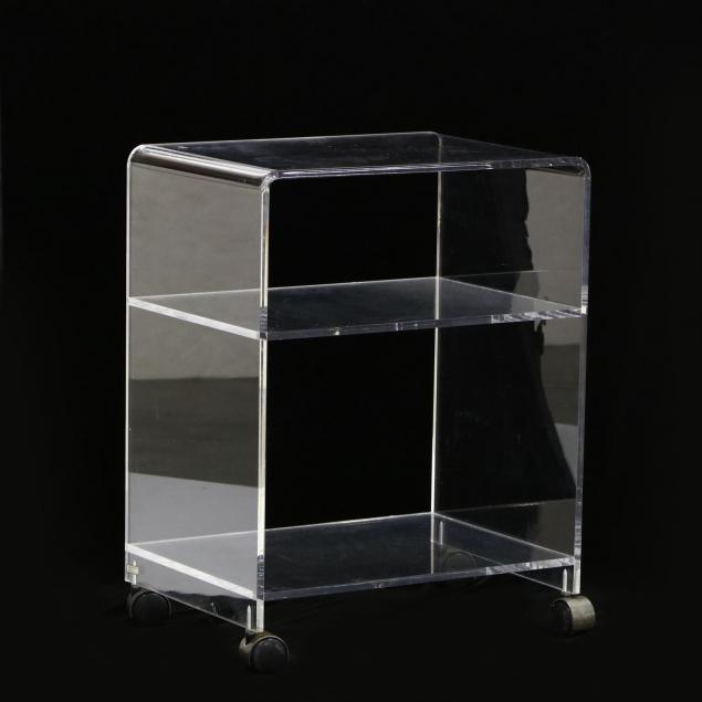 lucite-serving-cart
