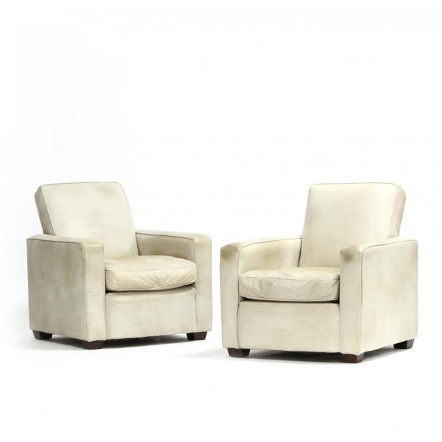 mitchell-gold-pair-of-leather-club-chairs